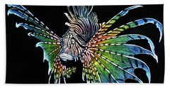 Rainbow Lion Fish Beach Towel