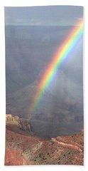 Rainbow Meets Mather Point Beach Towel