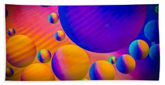 Rainbow Moons Abstract Beach Towel by Bruce Pritchett