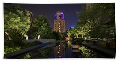 Beach Towel featuring the photograph Rainbow Lights by Andrea Silies