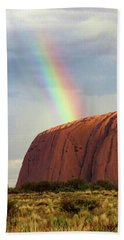Rainbow On Uluru 2 Beach Sheet