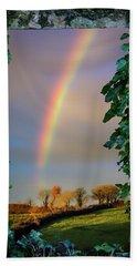 Beach Towel featuring the photograph Rainbow Over County Clare, Ireland, by James Truett