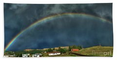 Rainbow Over Cripple Creek Beach Sheet