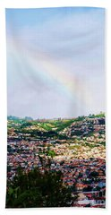 Rainbow Over Funchal Beach Towel