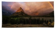 Rainbow Over Mt Gould Beach Towel