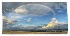 Rainbow Over Ocean Beach Towel