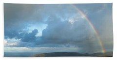 Rainbow Over Porlock Hill Beach Towel