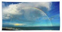 Rainbow Over Topsail Island Beach Towel by John Pagliuca
