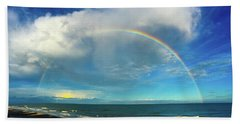 Rainbow Over Topsail Island Beach Sheet