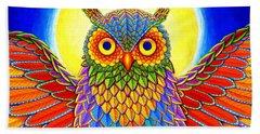 Rainbow Owl Beach Sheet