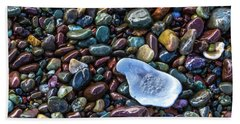 Rainbow Pebbles Beach Towel