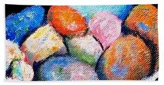 Rainbow Pebbles Beach Towel