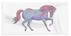 Rainbow Pony II Beach Towel