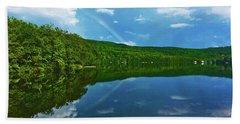 Rainbow Reflection Beach Towel