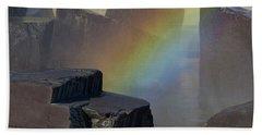 Rainbow Rocks Beach Towel