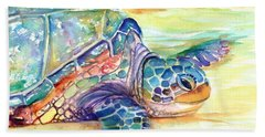 Rainbow Sea Turtle 2 Beach Towel