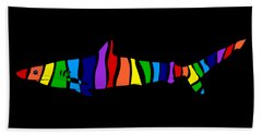 Rainbow Shark Beach Towel