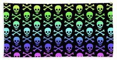 Rainbow Skull And Crossbones Beach Sheet