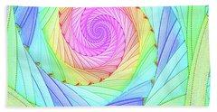 Rainbow Spiral Beach Towel