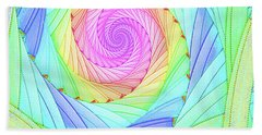 Rainbow Spiral Beach Towel