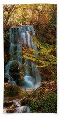 Rainbow Springs Waterfall Beach Towel by Louis Ferreira