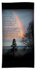 Rainbow Heart Beach Sheet