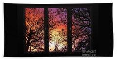 Rainbow Sunset Through Your Window Beach Sheet