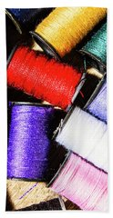 Beach Towel featuring the photograph Rainbow Threads Sewing Equipment by Jorgo Photography - Wall Art Gallery