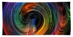 Rainbow Through Curved Air Beach Sheet