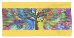 Beach Towel featuring the digital art Rainbow Tree By Kaye Menner by Kaye Menner
