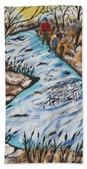 Rainbow Trout Fishing Beach Towel