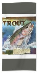 Rainbow Trout Beach Towel