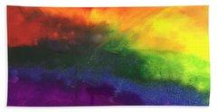 Rainbow Veins Beach Towel