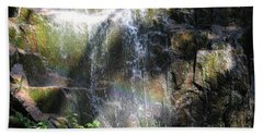 Rainbow Waterfall Beach Towel