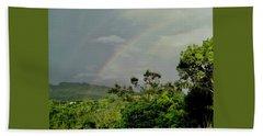 Rainbow2 In Villalba, Puerto Rico Beach Towel