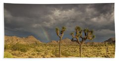 Rainbows Thunderstorms And Sunsets Beach Towel