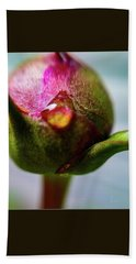 Raindrop On Peonie Beach Towel