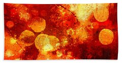 Beach Towel featuring the digital art Raindrops And Bokeh Abstract by Fine Art By Andrew David