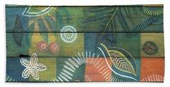 Rainforest Regeneration  Beach Sheet by Kerryn Madsen-Pietsch