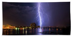 Raining Bolts Beach Towel