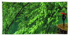 Raining Serenity - Plitvice Lakes National Park, Croatia Beach Towel