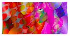 Beach Towel featuring the digital art Rainy Day Girl by Robert Orinski