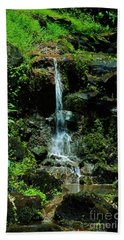 Beach Towel featuring the photograph Rainy Day Runoff Nuuanu by Craig Wood