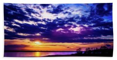 Rainy Day Sunset - 2 Beach Towel