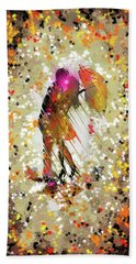Rainy Love Beach Towel