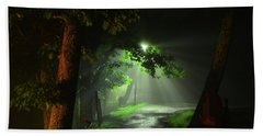 Rainy Night Beach Towel