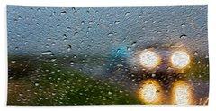 Rainy Ride Beach Sheet