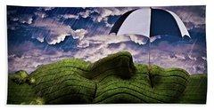 Rainy Summer Day Beach Towel by Mihaela Pater