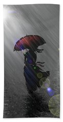 Rainy Walk Beach Towel