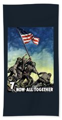 Raising The Flag On Iwo Jima Beach Towel